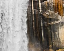 Waterfall and granite Stock Photos