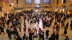 Panoramic View of Grand Central Station, New York Stock Footage