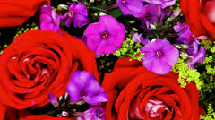 Big bouquet of rose and pansy Stock Footage