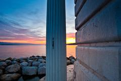 Lake Geneva At Dawn Kuvituskuvat
