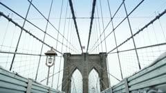 Brooklyn Bridge, New York Stock Footage
