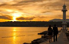 Sunrise Lake Geneva Kuvituskuvat