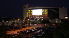 Miami Heat American Airlines Arena Stock Footage
