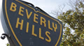 Beverly Hills Sign symbol luxury Street Sign, Los Angeles, California, Blue Sky Footage