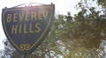 Beverly Hills Sign, landmark, avenue, symbol, Los Angeles, California, Blue Sky Footage
