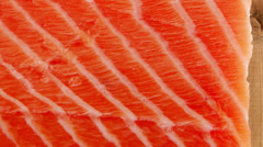 Big salmon fillet Stock Footage