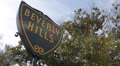 Beverly Hills Sign, Palm Trees, Street Sign, Los Angeles, California, Blue Sky HD Footage