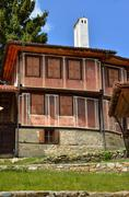 a traditional old house in koprivshtitsa bulgaria, from the time of the ottom - stock photo