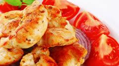 Fried chicken brisket Stock Footage