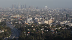 Los Angeles Skyline, Aerial View, California, destination, america, usa, LA day - stock footage