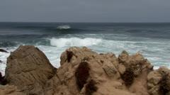 Waves crashing Stock Footage