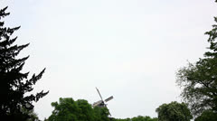 Windmill in The Distance Stock Footage