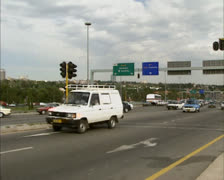 Commuting traffic in suburb Johannesburg, South Africa 02 Stock Footage