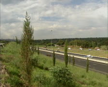 Commuting traffic speeding at highway in South Africa Stock Footage