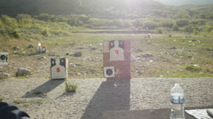 Gun range outdoor Stock Footage