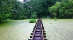Abandoned Theme Park Railway Stock Footage