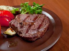 grilled beef  - steak - stock photo