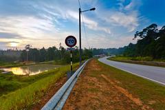 Malesia maaseudun tie Kuvituskuvat