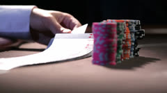 Flip the cards Stock Footage