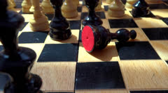 Closeup move in chess Stock Footage