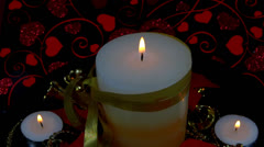 Decorative candle Stock Footage