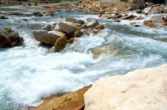 mountain river. - stock photo