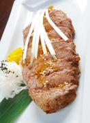grilled beef . - stock photo