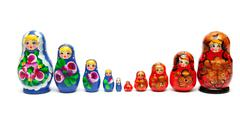 Russian nesting dolls Stock Photos