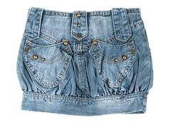 Denim mini skirt Stock Photos