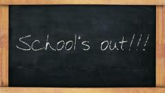 Schools out Stock Footage