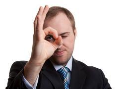unshaven businessman - stock photo