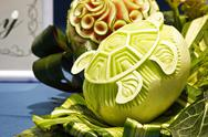 Stock Photo of cantaloup carving 10