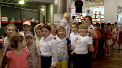 "Children in the Moscow Museum of Science ""Experimentanium"". Stock Footage"
