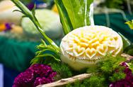 Stock Photo of cantaloup carving 12