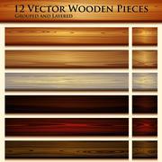 Wooden texture seamless background illustration - stock illustration