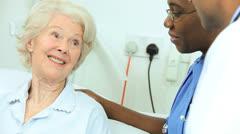 Senior Hospital Patient Specialist Care - stock footage