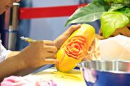 Stock Photo of papaya carving 2