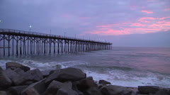 Sunrise at pier, 12fps @ 600% Stock Footage