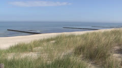 Baltic Sea Beach with dune Stock Footage