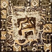 decorative wall mosaic - stock photo