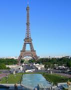 Eiffel Tower in Paris, France Stock Photos