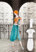 summer urban youth clothing - stock illustration
