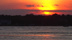 Sunset waterway cu, 12fps at 50% Stock Footage