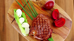 Barbecued meat : beef ( lamb ) Stock Footage