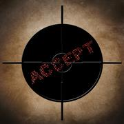 Accept target Stock Illustration