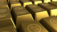 Gold Bricks Stock Footage