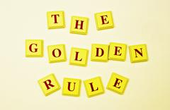 Remember The Golden Rule Stock Photos