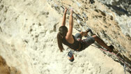 Stock Video Footage of Woman - climber