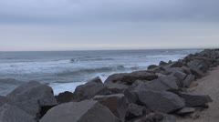Stock Video Footage of Waves and rocks, 300%