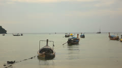 Long-tail boat in Thailand. - stock footage